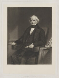 George Peabody, by and published by Thomas Lewis Atkinson, after  Henry William Pickersgill - NPG D39576