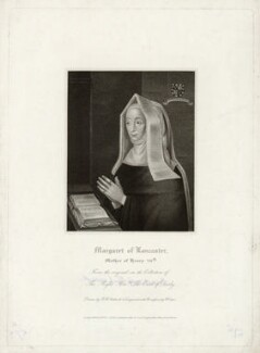 Lady Margaret Beaufort, Countess of Richmond and Derby, by Robert Cooper, published by  Lackington, Allen & Co, published by  Longman, Hurst, Rees, Orme & Brown, after  Robert William Satchwell - NPG D39778