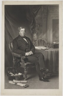 Jonathan Peel, by Thomas Lewis Atkinson, published by  Henry Graves & Co, after  Sir Francis Grant - NPG D39584