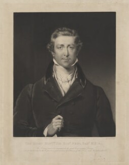 Sir Robert Peel, 2nd Bt, by William James Ward, published by  Francis Graves & Co, after  John Wood - NPG D39589