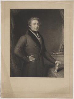 Sir Robert Peel, 2nd Bt, by James Scott, published by  Thomas Boys, after  John Linnell - NPG D39594