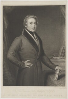 Sir Robert Peel, 2nd Bt, by James Scott, published by  Thomas Boys, after  John Linnell - NPG D39595