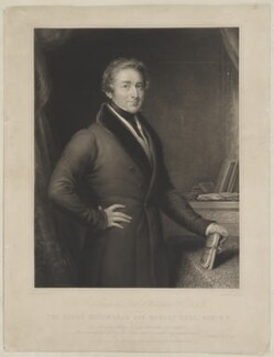 Sir Robert Peel, 2nd Bt, by James Scott, published by  Thomas Boys, after  John Linnell - NPG D39596