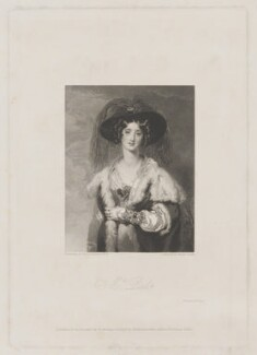 Julia (née Floyd), Lady Peel, by Charles Theodosius Heath, printed by  E. Brain, published by  Robert Jennings, and published by  Giraldon-Bovinet, after  Sir Thomas Lawrence - NPG D40102