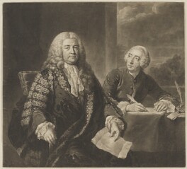 Henry Pelham; John Roberts, by Richard Houston, after  John Shackleton - NPG D40108