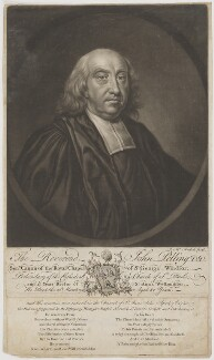John Pelling, by James Macardell, after  Unknown artist - NPG D40116