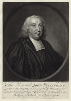 John Pelling, by James Macardell, after  Unknown artist - NPG D40117