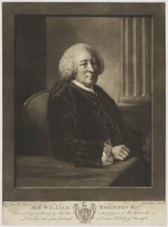 Sir William Robinson, 2nd Bt, by James Watson, after  Matthew William Peters - NPG D39808