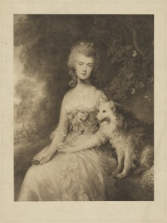 Mary Robinson (née Darby), after Thomas Gainsborough - NPG D39812