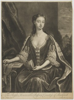 Bessey Nassau van Zuylestein (née Savage), Countess of Rochford, by and published by John Smith, after  Charles D'Agar - NPG D39822