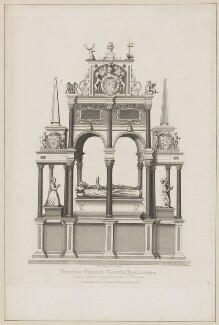 William Herbert, 1st Earl of Pembroke; Anne Herbert (née Parr), Countess of Pembroke (tomb effigies in St Paul's), by William Finden, published by  Lackington & Co, and published by  Longman & Co - NPG D40122