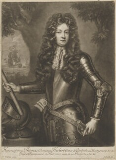 Thomas Herbert, 8th Earl of Pembroke, by John Smith, after  Willem Wissing - NPG D40124