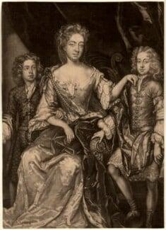 James Scott, Earl of Dalkeith; Anna Scott, Duchess of Monmouth and Duchess of Buccleuch; Henry Scott, 1st Earl of Deloraine, by John Smith, after  Sir Godfrey Kneller, Bt - NPG D10986