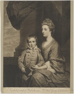 Elizabeth Herbert (née Spencer), Countess of Pembroke; George Augustus Herbert, 11th Earl of Pembroke, by John Dixon, after  Sir Joshua Reynolds - NPG D40131