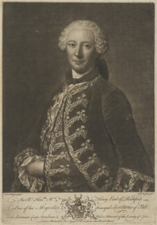 William Henry Nassau de Zuylestein, 4th Earl of Rochford, by Richard Houston, printed for  James Gapper, after  Domenico Duprà - NPG D39823