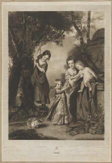 The Penn Family (Louisa Hannah Penn; John Penn; Juliana Baker (née Penn); Granville Penn), by Charles Turner, after  Sir Joshua Reynolds - NPG D40140