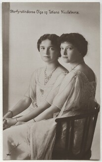 Olga, Grand Duchess of Russia; Tatiana, Grand Duchess of Russia, by Unknown photographer, 1910s - NPG x131657 - © National Portrait Gallery, London