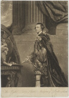Charles Watson-Wentworth, 2nd Marquess of Rockingham, by and published by William Dickinson, published by  William Austin, after  Sir Joshua Reynolds - NPG D39826