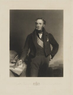Robert Jocelyn, 3rd Earl of Roden, by Thomas Goff Lupton, printed by  R. Lloyd, published by  Hodgson & Graves, after  Frederick Richard Say - NPG D39829