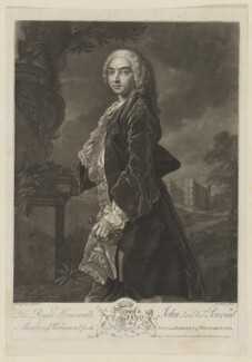 John Perceval, 2nd Earl of Egmont when Viscount Perceval, by John Faber Jr, after  Francis Hayman - NPG D40154
