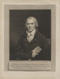 Spencer Perceval, by and published by William Skelton, after  Sir William Beechey - NPG D40157