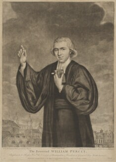 William Percey (Piercy), by Richard Houston, published by  Carington Bowles, after  John Russell - NPG D40159