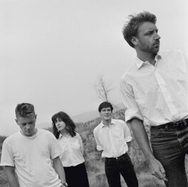 New Order (Bernard Sumner; Gillian Gilbert; Stephen Morris; Peter Hook), by Pete Moss - NPG x134513