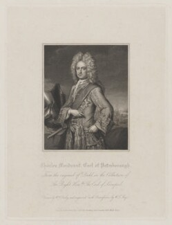 Charles Mordaunt, 3rd Earl of Peterborough, by William Thomas Fry, published by  Harding & Lepard, after  William Derby, after  Michael Dahl, published 1 January 1829 (1708) - NPG D40168 - © National Portrait Gallery, London