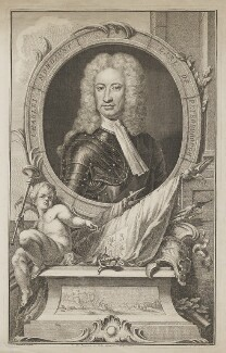 Charles Mordaunt, 3rd Earl of Peterborough, by Jacobus Houbraken, after  Sir Godfrey Kneller, Bt, published by  John & Paul Knapton, circa 1740 - NPG D40169 - © National Portrait Gallery, London