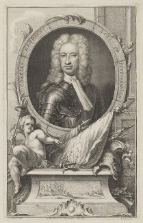 Charles Mordaunt, 3rd Earl of Peterborough, by Jacobus Houbraken, after  Sir Godfrey Kneller, Bt, published by  John & Paul Knapton, circa 1740 - NPG D40170 - © National Portrait Gallery, London