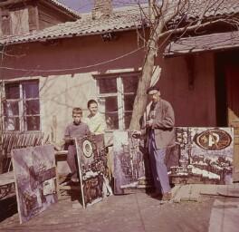 Alexandre Rabine; Valentina Kropivnitskaya; Oskar Rabine, by Ida Kar - NPG x134518