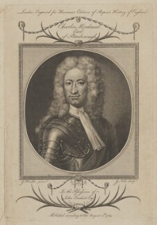 Charles Mordaunt, 3rd Earl of Peterborough, by George Noble, after  Sir Godfrey Kneller, Bt, published 5 August 1784 - NPG D40171 - © National Portrait Gallery, London