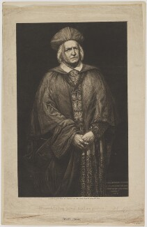 Samuel Phelps as Cardinal Wolsey in Shakespeare's Henry VIII, by Charles Philip Slocombe, after  Sir Johnston Forbes-Robertson - NPG D40182