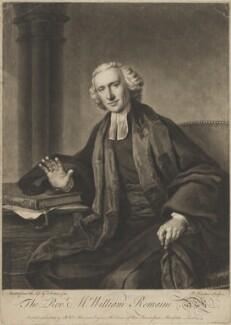 William Romaine, by Richard Houston, printed and sold by  Bewley Wynne Morrison, after  Francis Cotes - NPG D39854