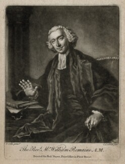 William Romaine, by Richard Purcell (H. Fowler, Charles or Philip Corbutt), printed for  Robert Sayer, after  Francis Cotes - NPG D39856