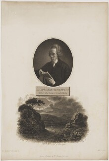 Joseph Townsend with 'View of the Escurial by Moon Light', by William Holl Sr, after  John Opie, and by  Thomas Milton, after  John Townsend, published by  Robert John Thornton, published December 1805 - NPG D40067 - © National Portrait Gallery, London