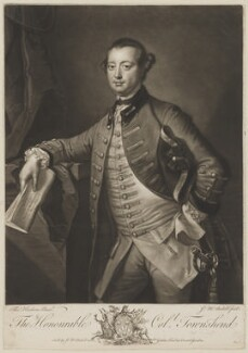 George Townshend, 4th Viscount and 1st Marquess Townshend, by and published by James Macardell, after  Thomas Hudson - NPG D40068