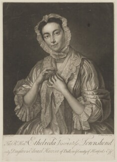 Ethelreda (née Harrison), Viscountess Townshend, by John Faber Jr, after  Jean Baptiste van Loo - NPG D40070