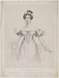 Louisa Anne Phillips as Claudia in Mitford's 'Rienzi', by and published by Henry Edward Dawe, and published by  C. Bird, printed by  Charles Joseph Hullmandel - NPG D40208