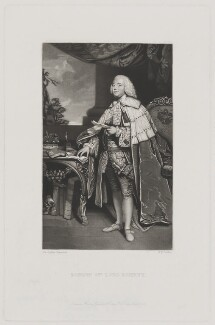 Robert Marsham, 2nd Baron Romney, by Robert Bowyer Parkes, published by  Henry Graves & Co, after  Sir Joshua Reynolds - NPG D39862