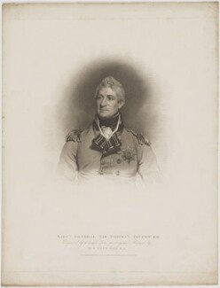 Sir Thomas Picton, by Robert Cooper, published by  T. Cadell & W. Davies, after  Sir Martin Archer Shee - NPG D40217