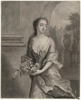 Elizabeth Egerton (née Churchill), Countess of Bridgewater, by William Faithorne Jr, after  Michael Dahl, early 1700s - NPG D39867 - © National Portrait Gallery, London