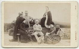 Mr and Mrs Gladstone and others at Deal Castle, by John Berryman, 24 August 1881 - NPG x134578 - © National Portrait Gallery, London