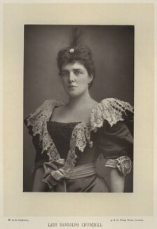 Jeanette ('Jennie') Churchill (née Jerome), Lady Randolph Churchill, by W. & D. Downey, published by  Cassell & Company, Ltd - NPG x134582