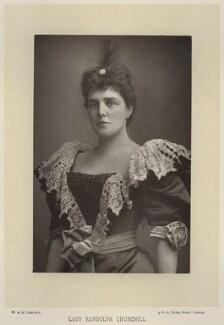 Jeanette ('Jennie') Churchill (née Jerome), Lady Randolph Churchill, by W. & D. Downey, published by  Cassell & Company, Ltd, published 1893 - NPG x134582 - © National Portrait Gallery, London
