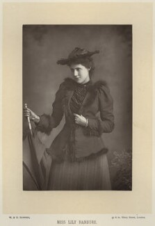 Lily Hanbury, by W. & D. Downey, published by  Cassell & Company, Ltd - NPG x134585