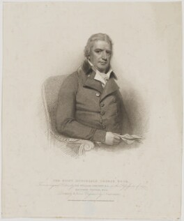 George Rose, by Giovanni Vendramini, published by  T. Cadell & W. Davies, after  William Evans, after  Sir William Beechey - NPG D39870