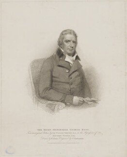 George Rose, by Giovanni Vendramini, published by  T. Cadell & W. Davies, after  William Evans, after  Sir William Beechey - NPG D39871