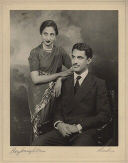 Mrs S.M. Mohsin; Mr S.M. Mohsin, by Hay Wrightson - NPG x134595