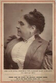 Princess Mary Adelaide, Duchess of Teck, by Gunn & Stuart - NPG x134598